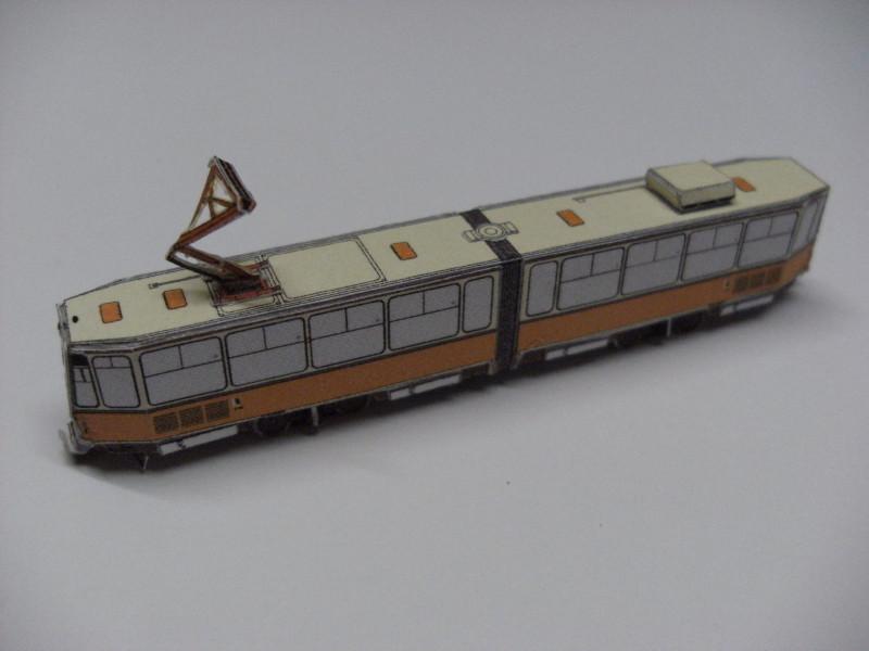 "Straßenbahn ""KT4D"", Berlin,orange, Maßstab 1:250 Kt4d-b11"