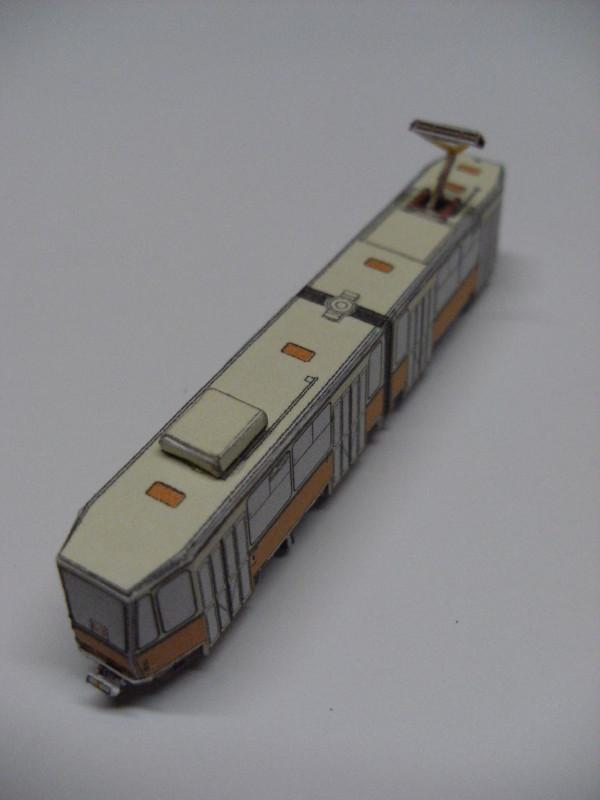 "Straßenbahn ""KT4D"", Berlin,orange, Maßstab 1:250 Kt4d-b13"