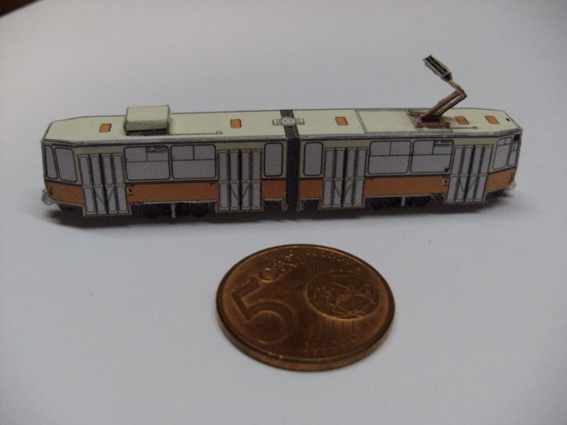 "Straßenbahn ""KT4D"", Berlin,orange, Maßstab 1:250 Kt4d-b14"