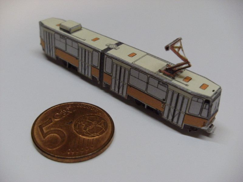 "Straßenbahn ""KT4D"", Berlin,orange, Maßstab 1:250 Kt4d-b15"