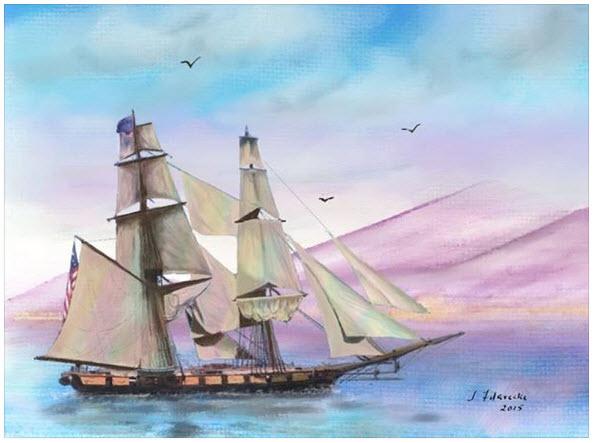Tall Ship Painting Tallsh10