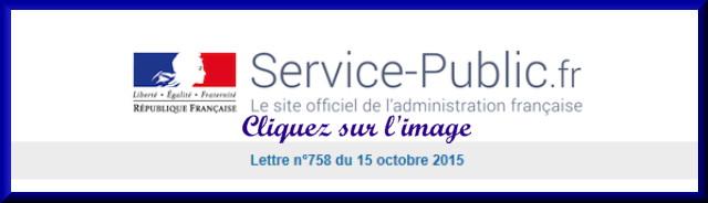 La lettre N° 758 du nouveau Service Public pour le 15 Octobre 2015 75810