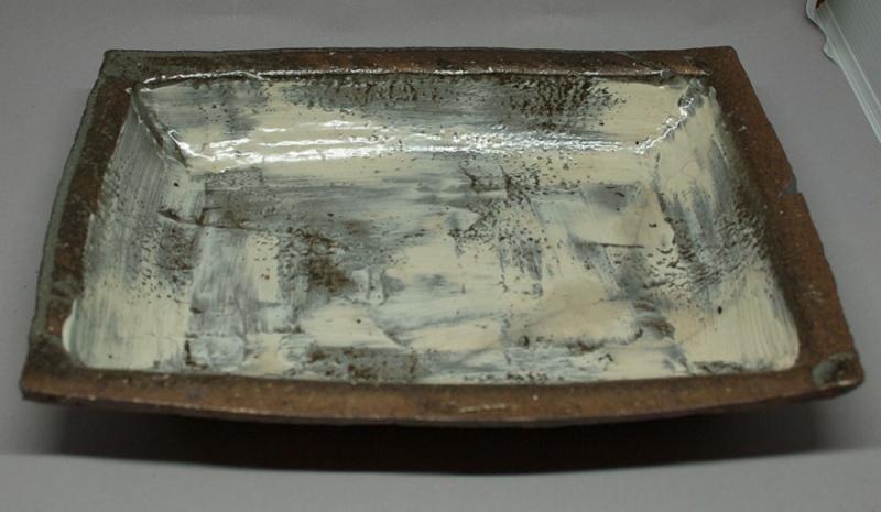 Rectangular Agano-ish plate Img_1310