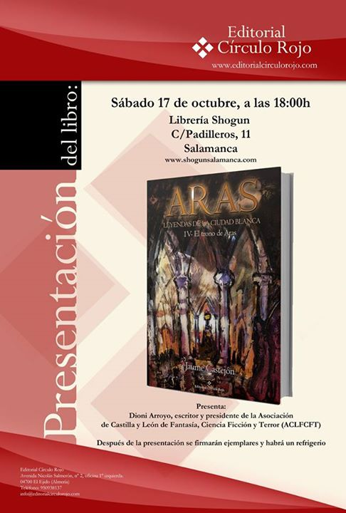 Presentación Aras. Leyendas de la Ciudad Blanca IV. Jaume Castejón. 12088210