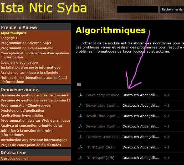 Formations cours supports : Ista Ntic Syba Ista_410
