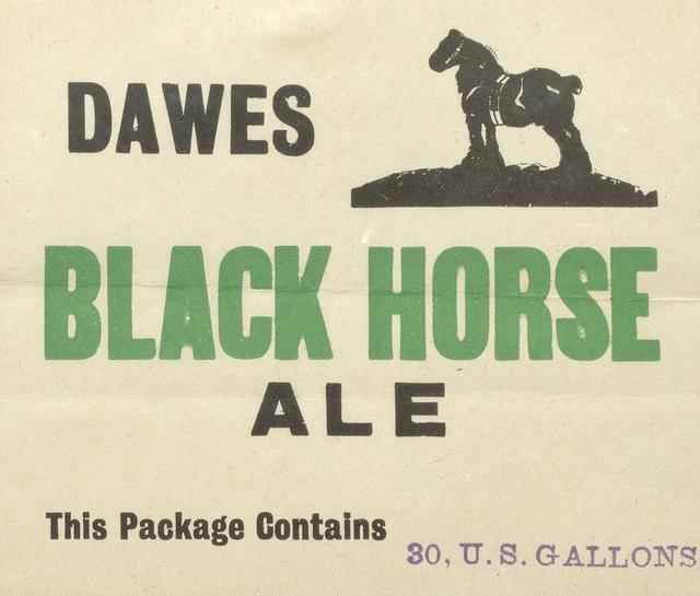 a quoi servait cette etiquette  black horse  65004810