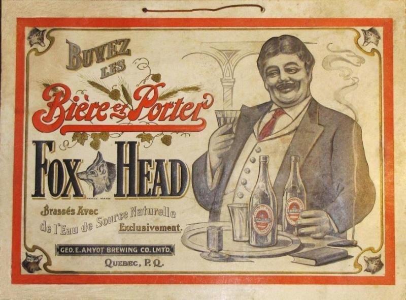 La bière Fox Head de Québec vendue à Hull en 1911 Fox-b-10