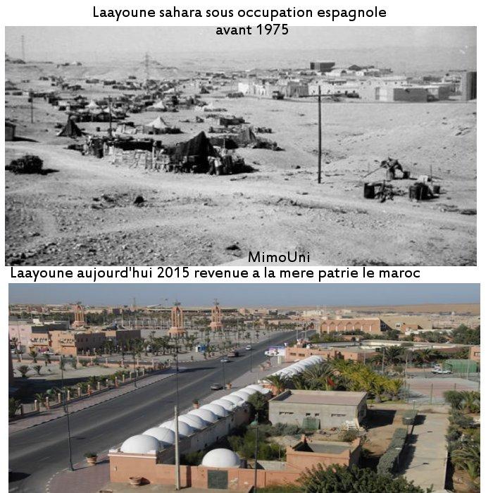 sahara Marocain comparaison avant et après 1975 Laayou10