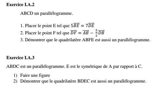 Vecteurs et translations Numyro12