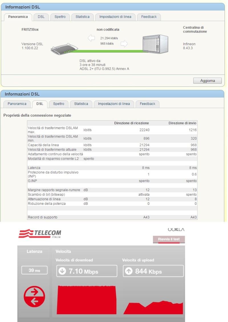 differenza test velocità adsl - 3390 Adsl12