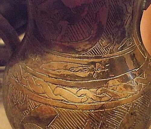ID signature on dallah teapot Water103