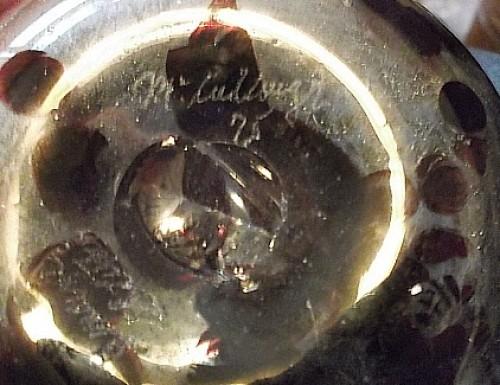 art glass vase Water134