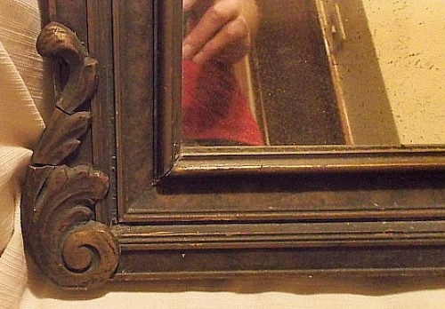painted gesso wall mirror Water140