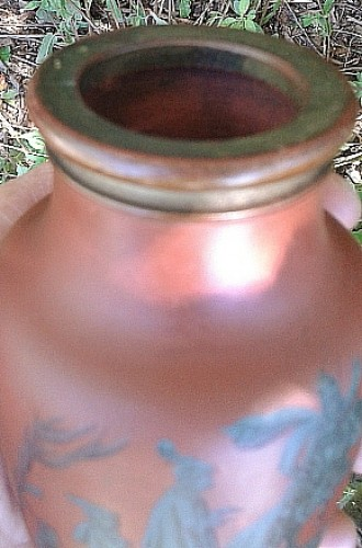 redware Shakespeare vase/ bottle Waterm26