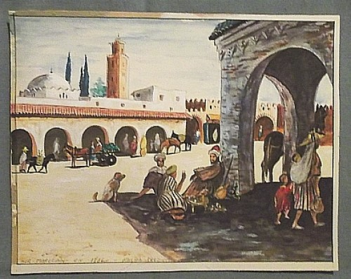 middle eastern watercolor painting Waterm35