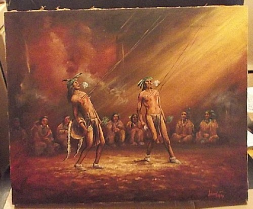 native american ritual oil painting Waterm45