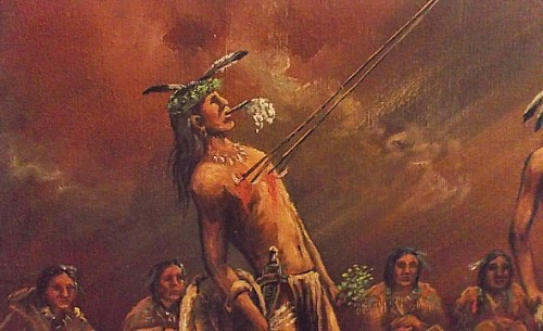 native american ritual oil painting Waterm47