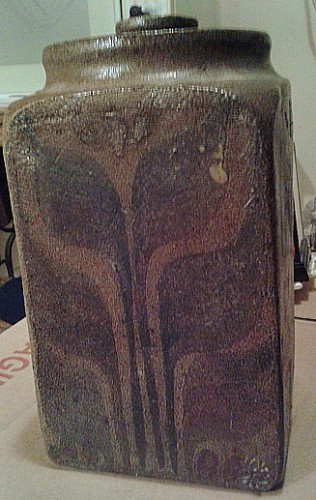 art pottery stoneware jar Waterm57