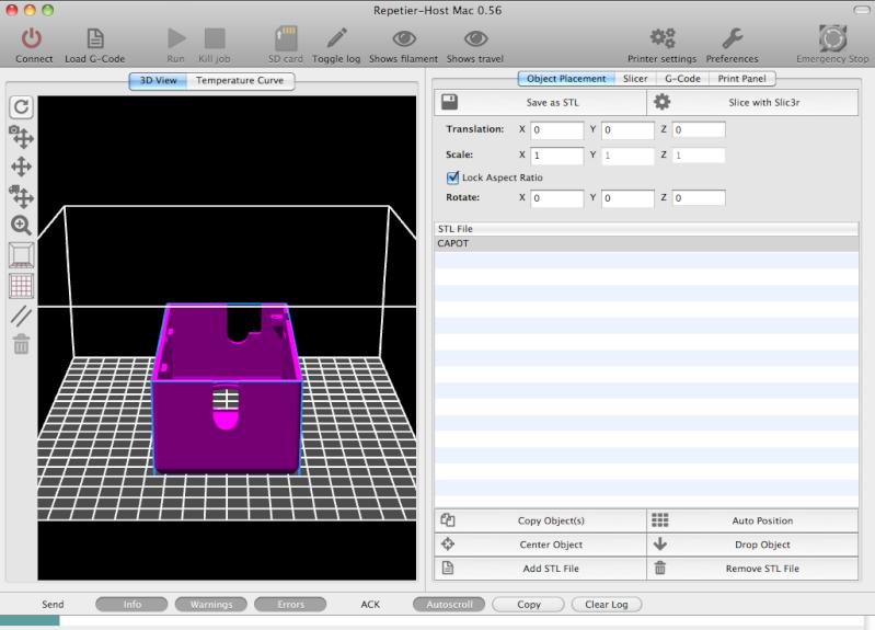 VISUALISATION OBJET EN 3D DANS REPETIER Captur12