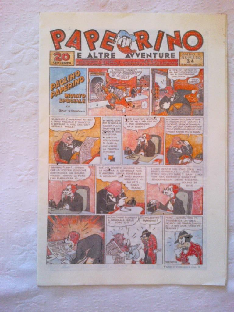 VENDO Mini Lotto Fumetti Topolino Walt Disney Paperino Giornale anni `70 Nc_34_10