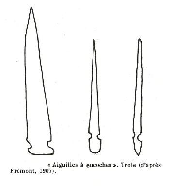 LES DIFFÉRENTS TYPES D'AIGUILLES PALÉOLITHIQUES. Aiguil17