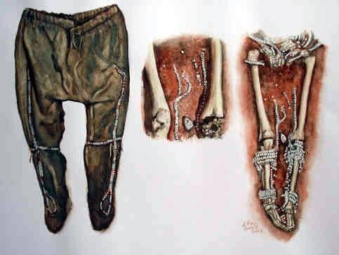Les vêtements paléolithiques. Sungir14