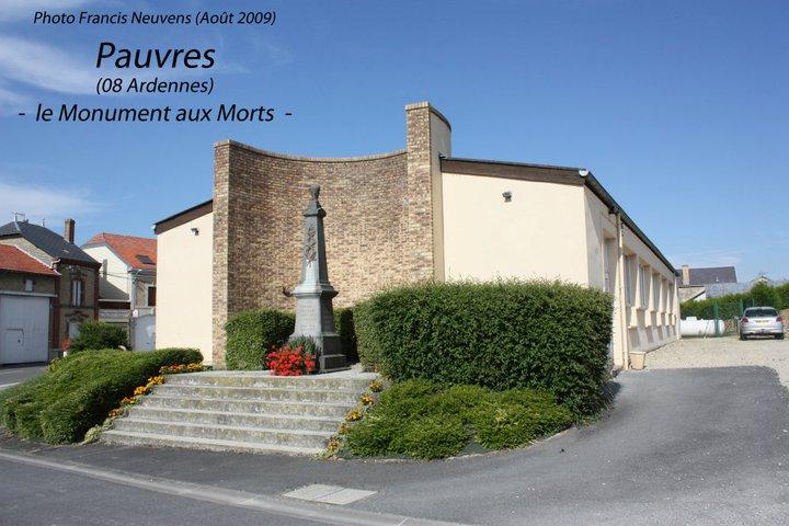 Pauvres, et son monument aux morts 14810810