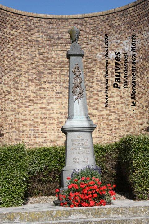 Pauvres, et son monument aux morts Pauvre22