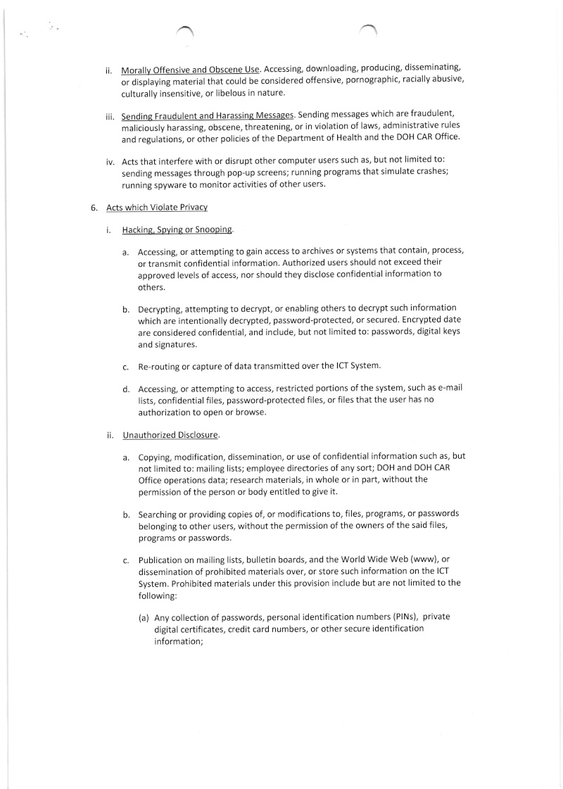 DCOO 2015-001: DOH-CAR Office Information and Communication Technology Usage and Security Policy 001_0014