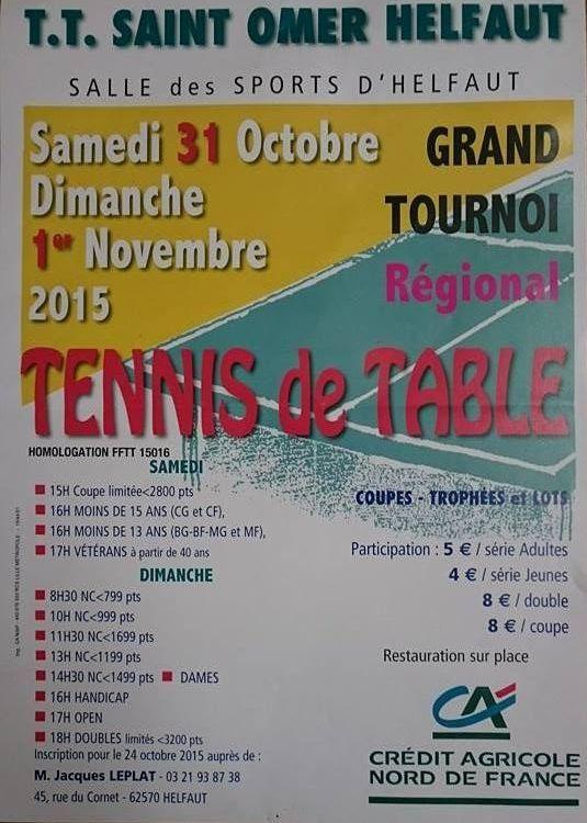 tournoi TT Saint-Omer Helfaut 31 oct et 1er nov 12166010