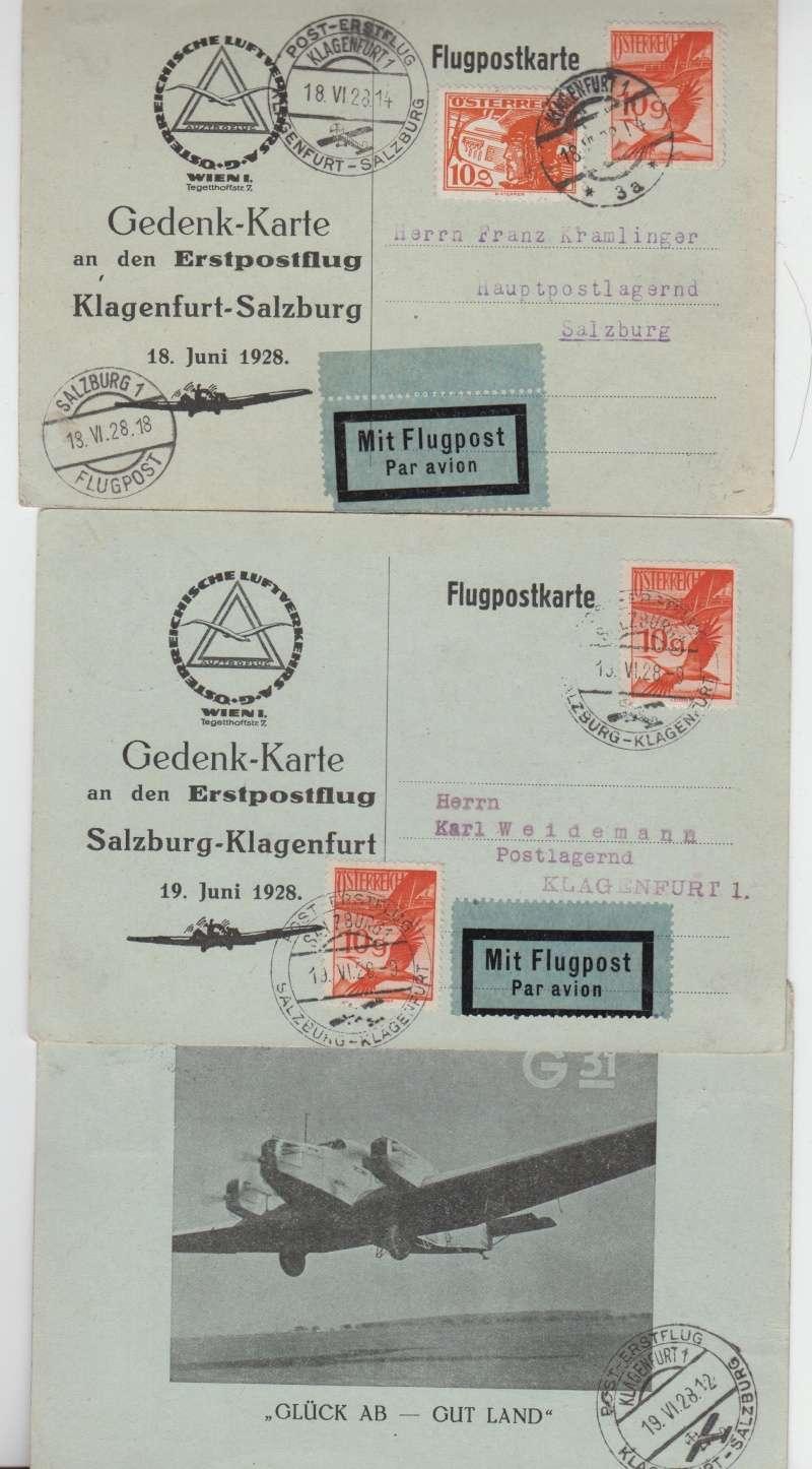 Post-Erstflug Klagenfurt - Salzburg - Klagenfurt 00311