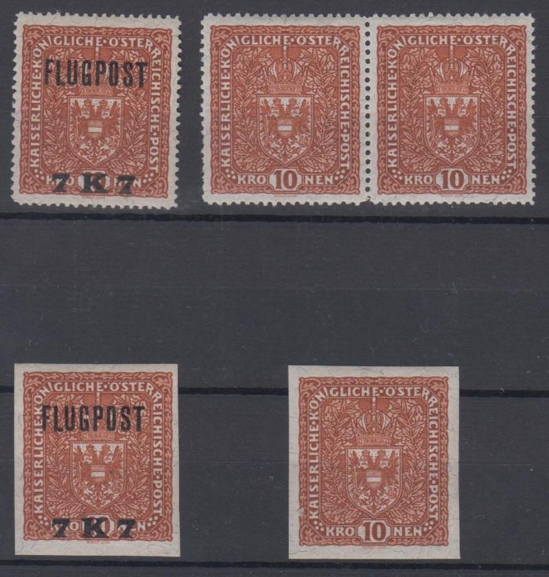 FLUGPOSTMARKEN-AUSGABE 1918  00710