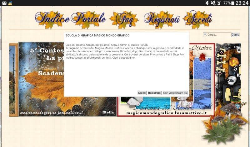 colore di sfondo del pop-up di connessione Screen10