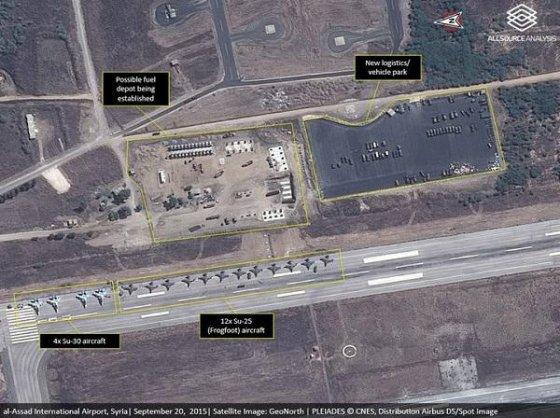Scénario de guerre Russe  en Syrie Baseru10