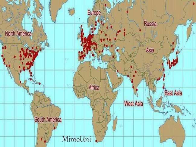 Patrimoine mondial en nucléaire, centrale,reacteurs,uranium Carte_11