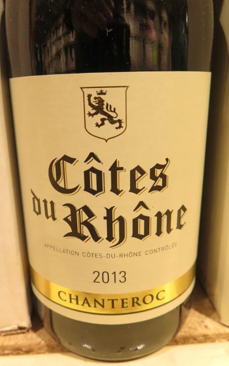 Côtes du Rhône  -  ( Vin Rouge) - 225    225_bi12