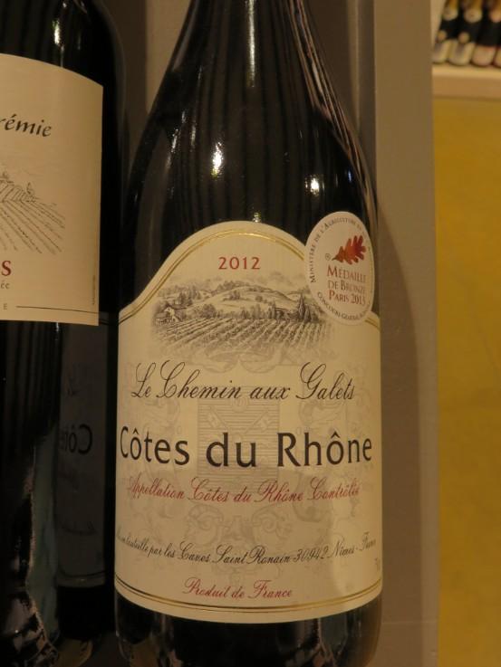Côtes du Rhône  -  ( Vin Rouge) - 225    225_cy10