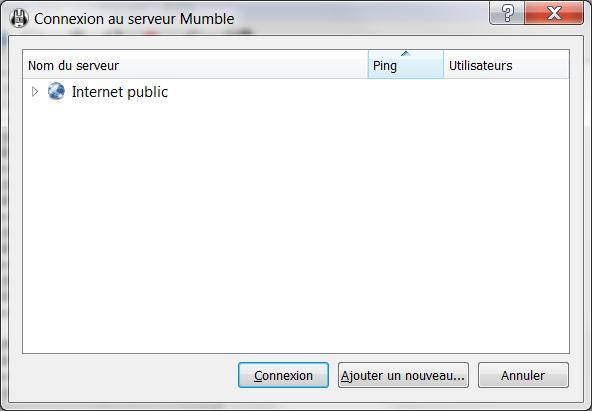 Connexion Mumble Mumble17