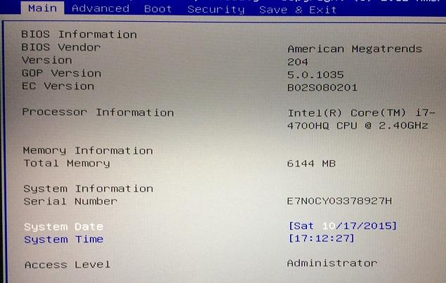 Yosemite 10.10.5 / Windows 10 sur ASUS N550JK avec boot clover Img_0811
