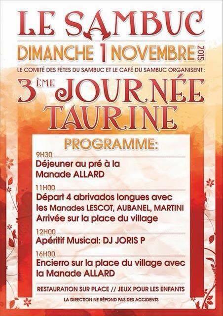 LE SAMBUC - DIMANCHE 1ER NOVEMBRE - JOURNEE TAURINE 1er_no10
