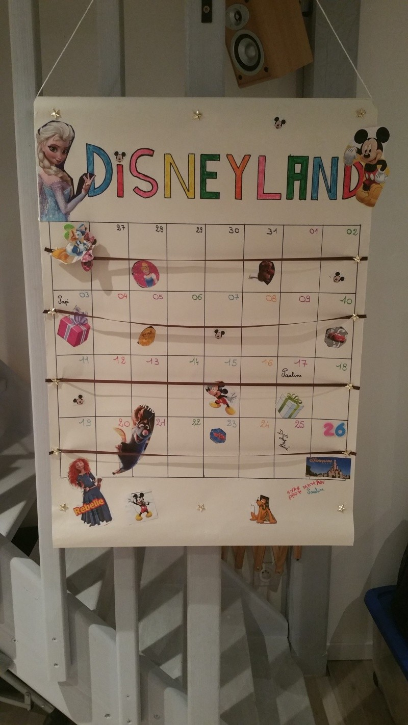 calendrier de l'avant de départ à Disney (photo incluse ) 20151012