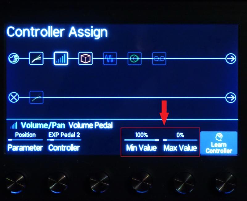 Aide pour le paramètrage de pédale d'expression externe type Roland EV5 P1020514