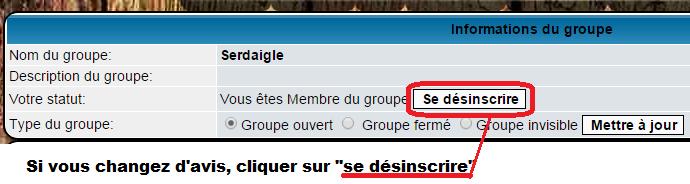 Demander à intégrer un groupe ou parti 0710