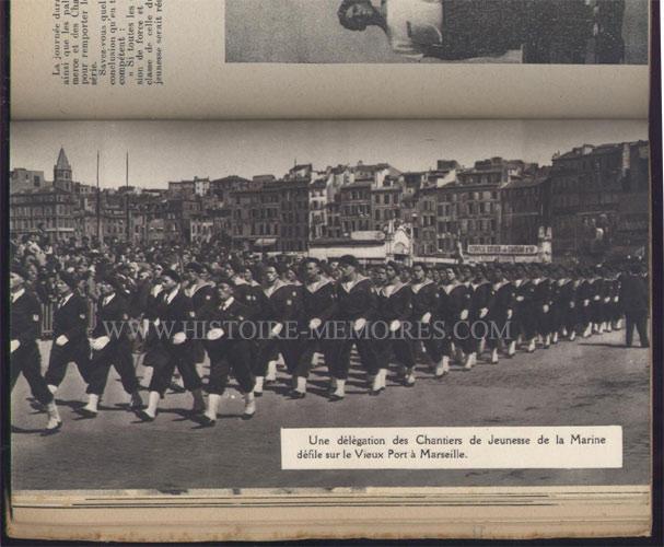 Image tirée de l'almanach du Marin 1943 à Marseille Defile10
