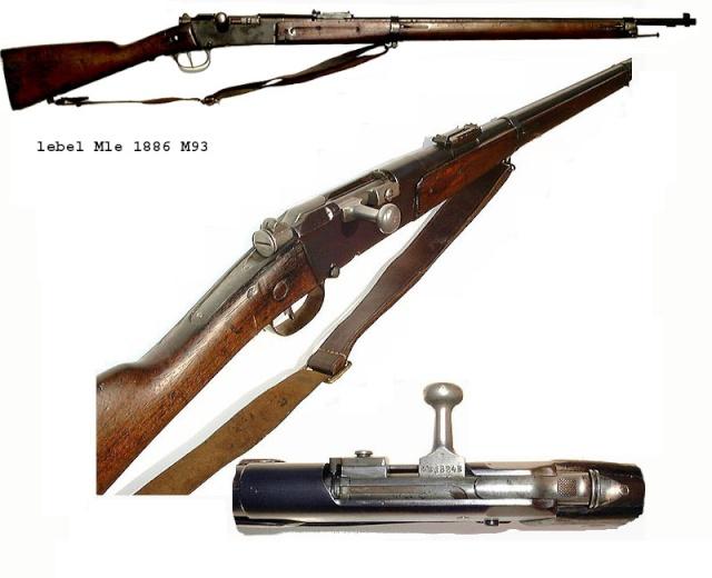 Le Mousqueton Lebel 1886 M93 équipant la Marine (garde) Lebel211