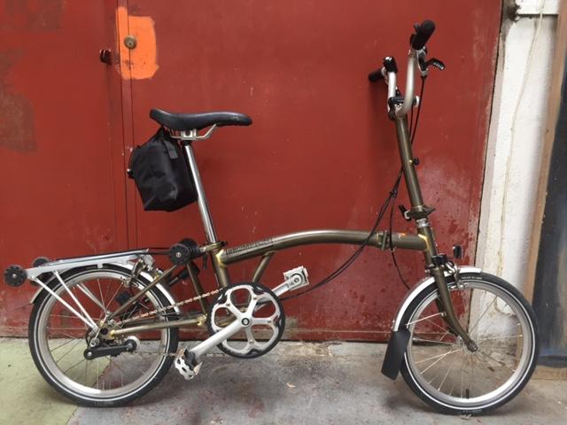 [VENDU] - Vends Brompton M3r Acier laqué avec easy wheel Img_2711