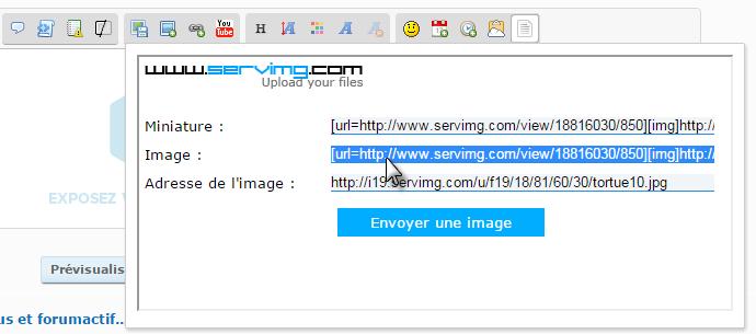 """Tutoriel pour insérer une image """"By Smithz"""" F10"""