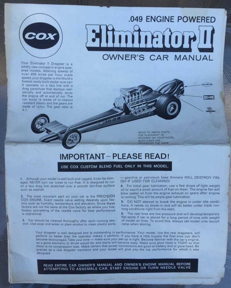Early version Red Eliminator II Dragster Image24