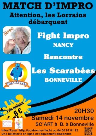 Match Scarabées (Bonneville)/Fight (Nancy) à OCA BONNEVILLE - 14/11/2015 Affich16