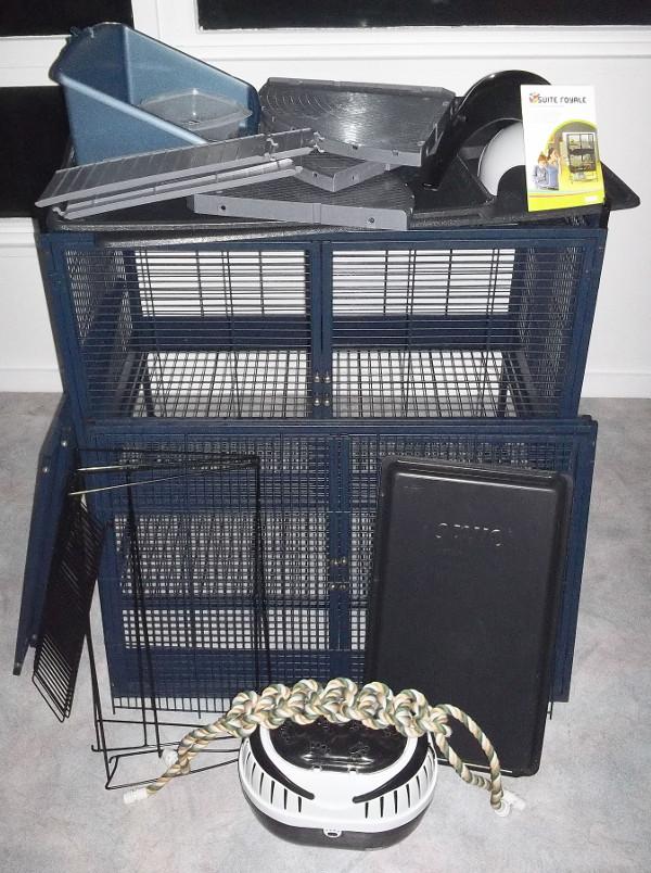 cage Royale Savic Double + accessoires, tbe, proche IDF 100_2411